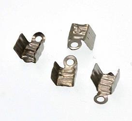 Концевик 4мм, 130шт. (темное серебро)