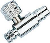 Клапан воздушный металлический игольчатый на грушу для тонометра