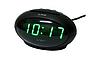 Часы сетевые 711-2 зеленые, фото 2