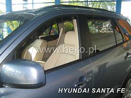 Дефлектори вікон (вітровики) HYUNDAI SANTA FE - 5d 2000r.→(HEKO)