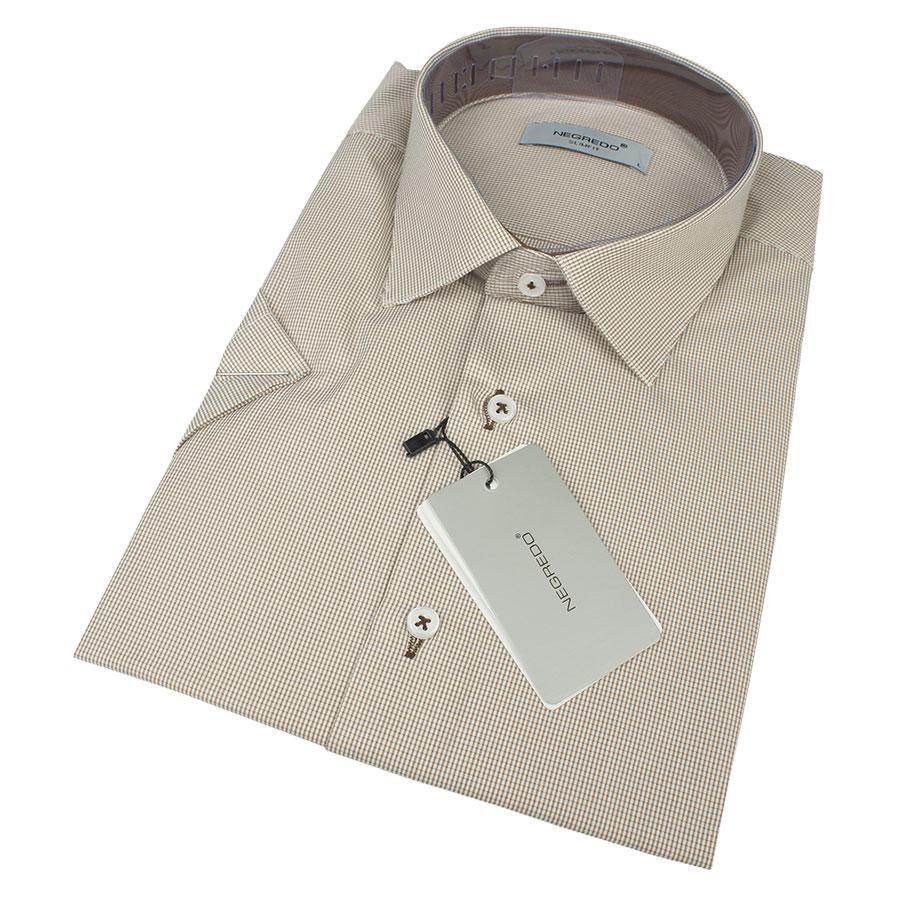 Классическая мужская рубашка в клетку Negredo 0310 H Slim С размер М