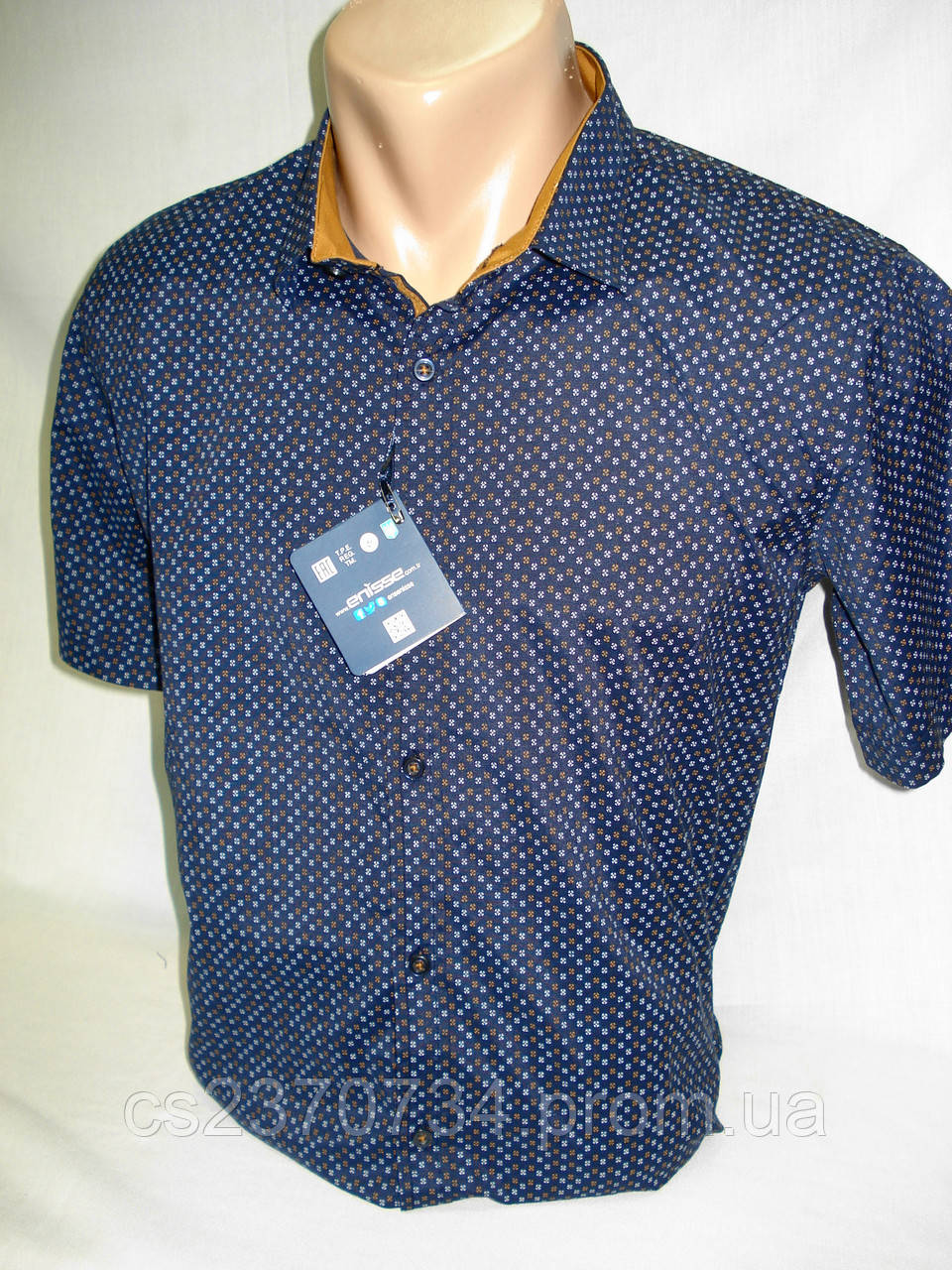 Шведка мужская  Enisse тёмно-синяя c коричневым (разм.S,M,L,XL)