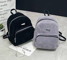 Модный велюровый рюкзак городского типа, фото 2