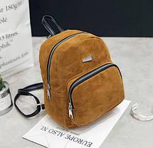 Модный велюровый рюкзак городского типа, фото 3