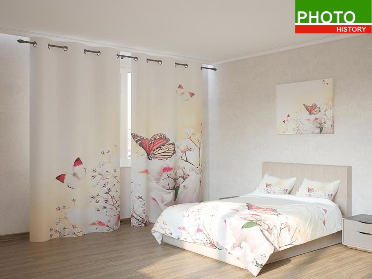 Фотокомплекты  бабочки на белых цветах