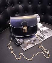 Не большая сумка почтальон на золотой цепочке, фото 2