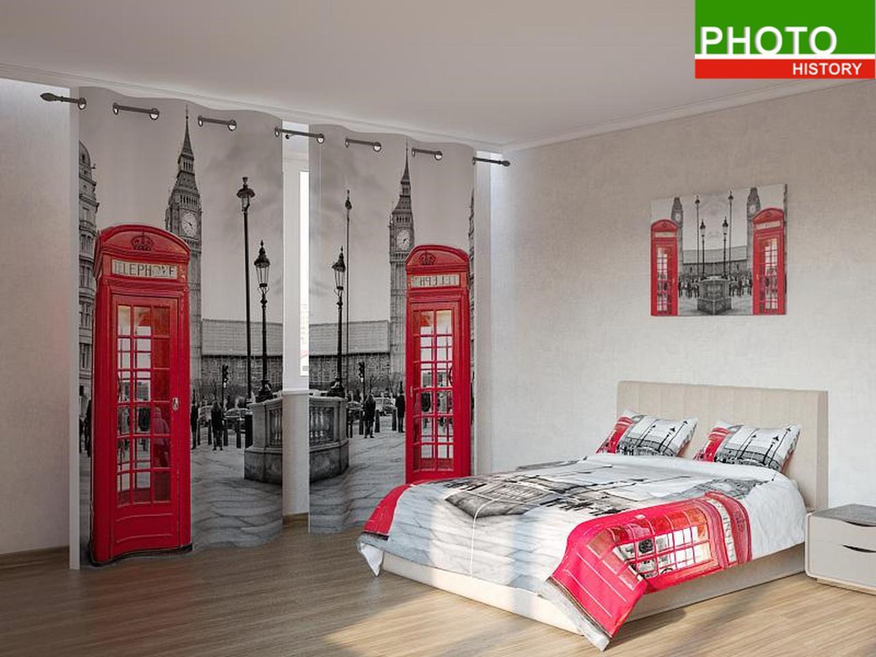 Фотокомплекты  красные телефонные будки