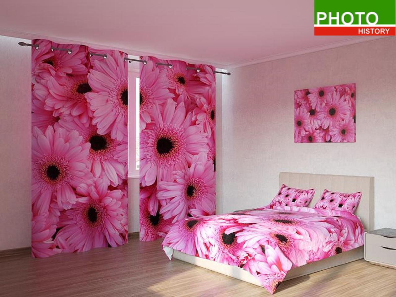 Фотокомплекты розовые герберы