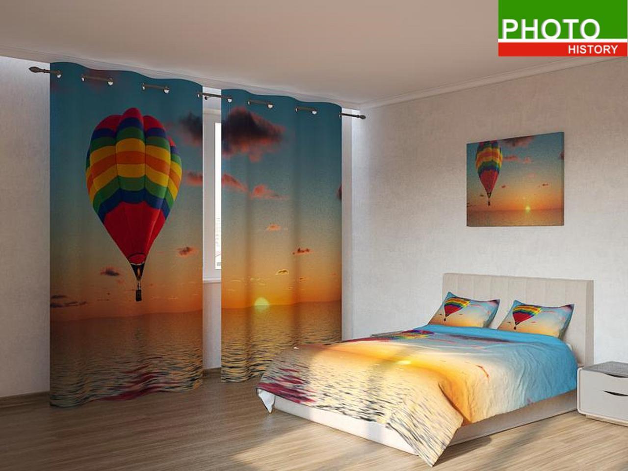 Фотокомплекты  воздушный шар в закате