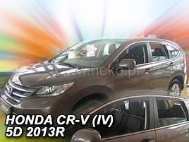 Дефлектори вікон (вітровики) Honda CR-V 2012 -> 5D 4шт (Heko)