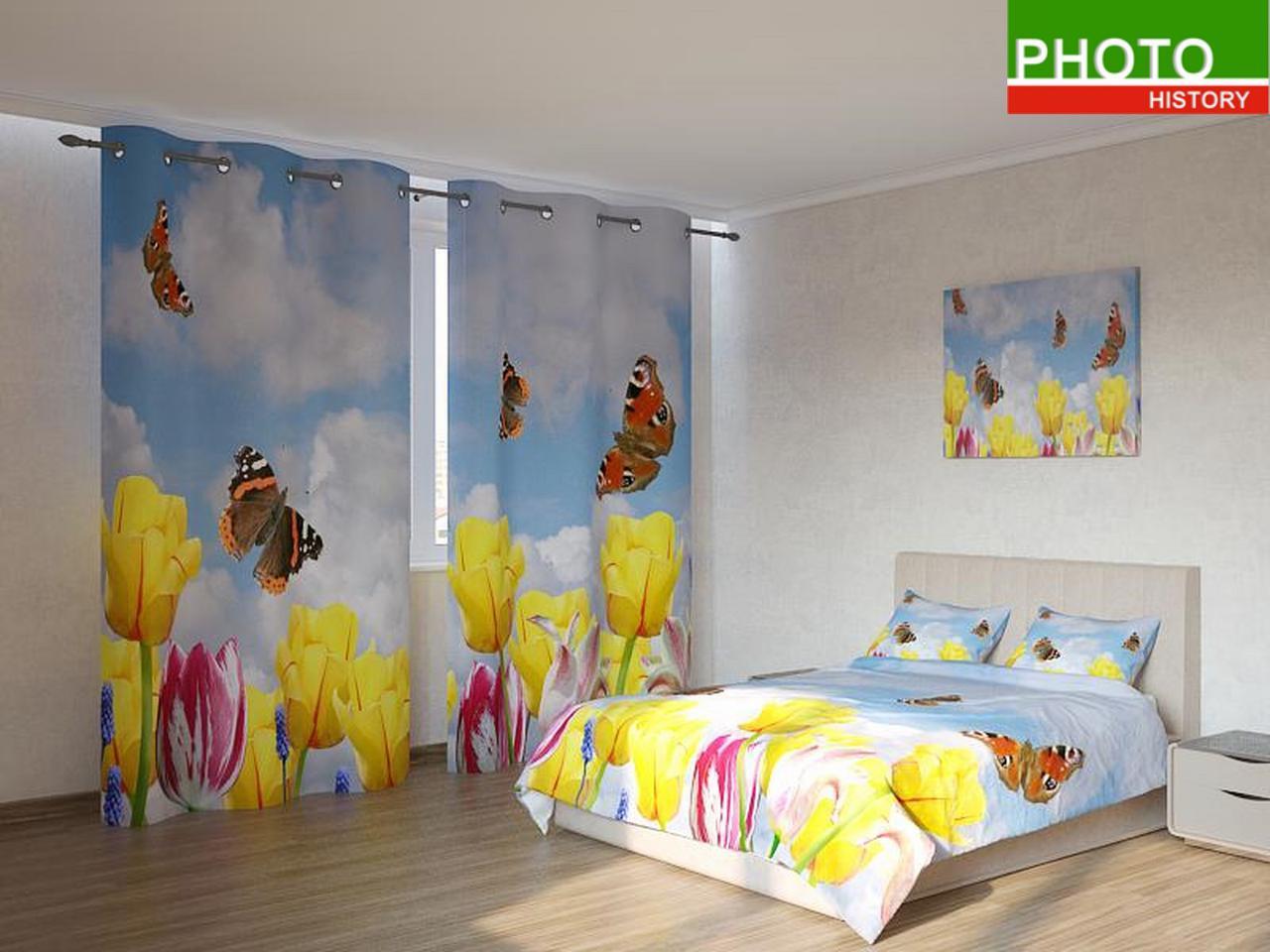 Фотокомплекты бабочки в тюльпанах