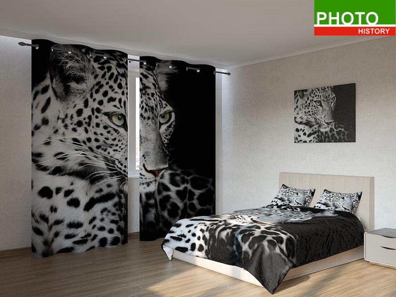 Фотокомплекты черно - белый леопард