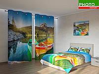 Фотокомплекты разноцветные лодки рыбаков