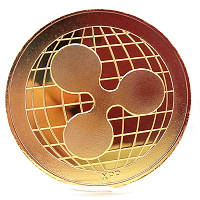 Монета сувенирная Ripple (xrp риппл) золотая