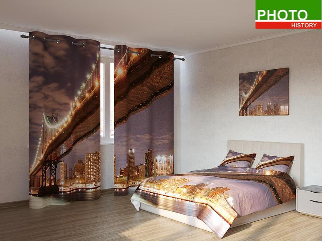 Фотокомплекты золотистый мост ночью