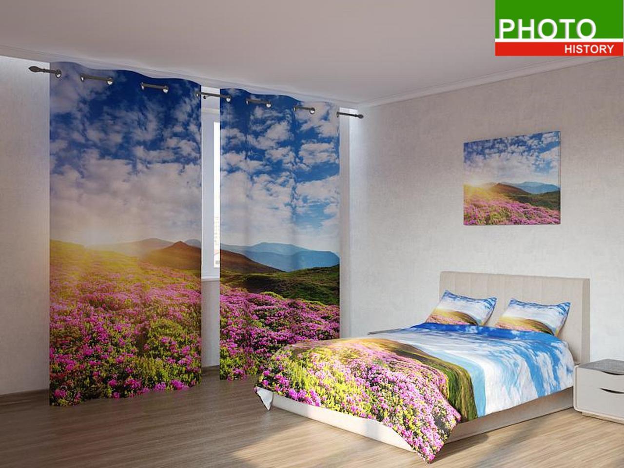 Фотокомплекты поляна розовых цветов