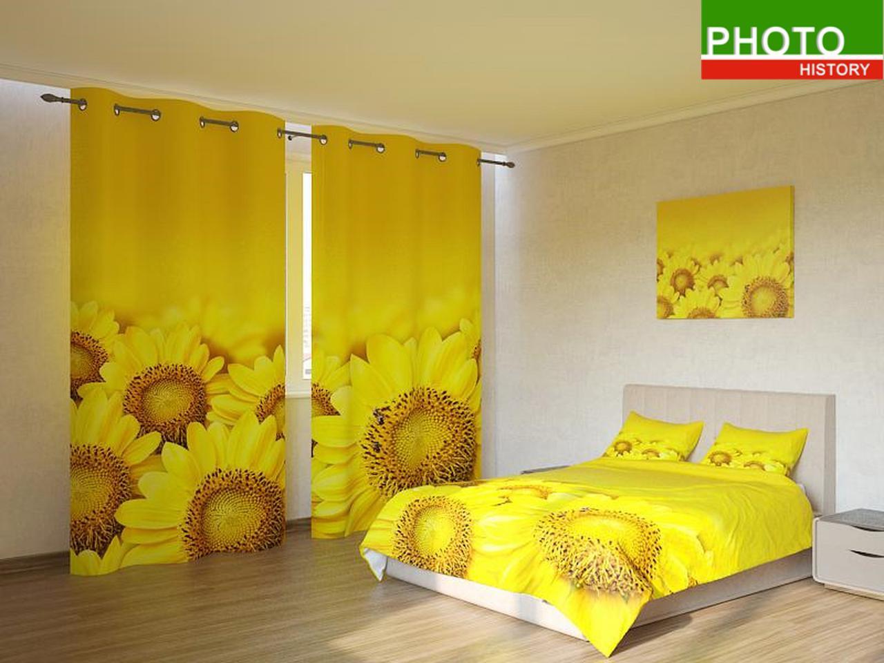 Фотокомплекты жёлтые ромашки