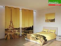 Фотокомплекты Эйфелева башня на золотом фоне