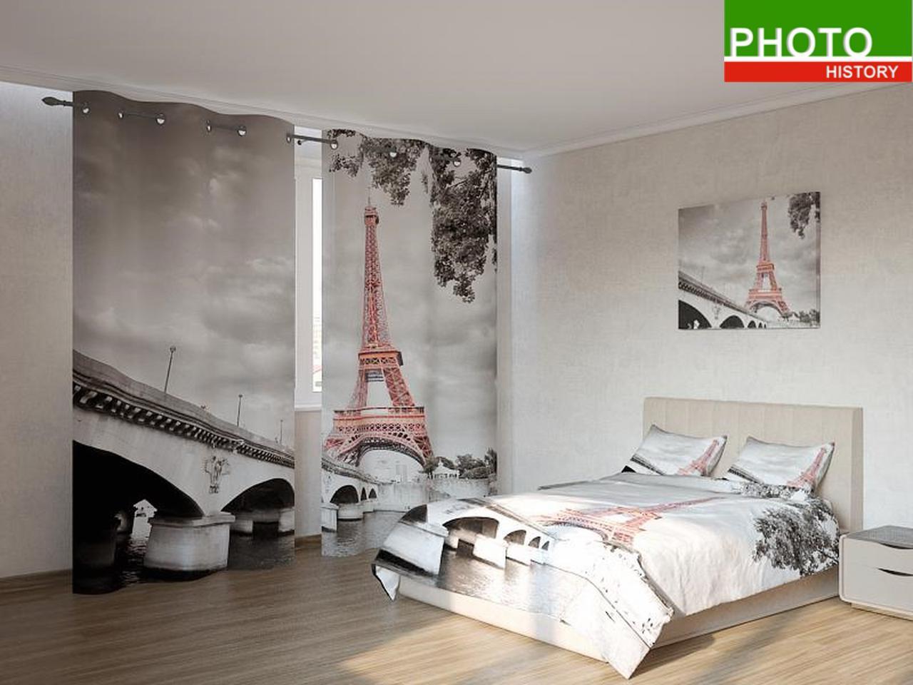 Фотокомплекты Эйфелева башня на чёрно - белом фоне