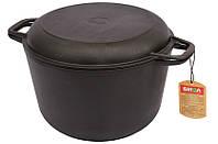 Казанок БИОЛ 0206 (6 л) чугунный с литой крышкой-сковородой