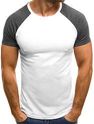 Мужская двухцветная футболка J.Style белая