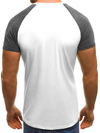 Мужская двухцветная футболка J.Style белая, фото 2
