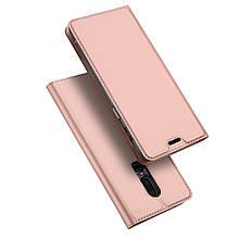 Чехол книжка Dux Ducis Skin Pro для OnePlus 6 розовое золото