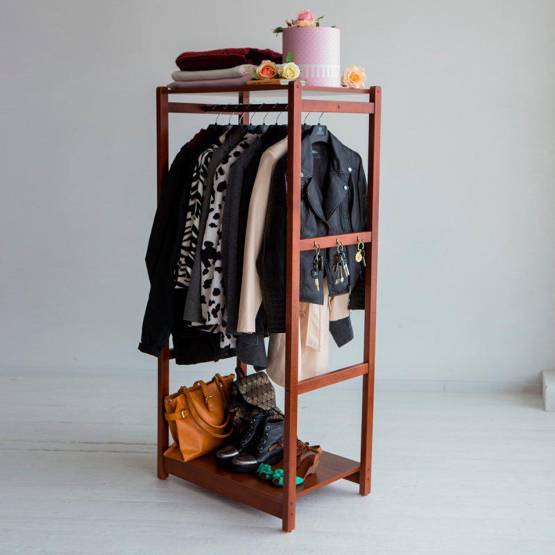 Стойка для одежды Сплит (натуральное дерево)