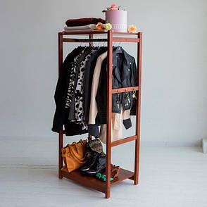 Стойка для одежды Сплит (натуральное дерево), фото 2