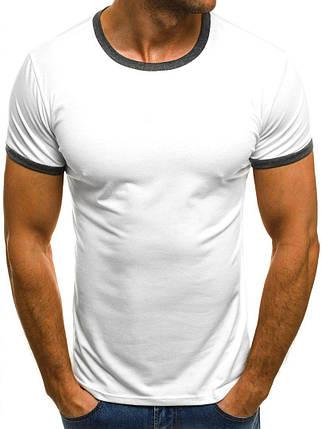 Стильная мужская футболка J.Style White белая, фото 2