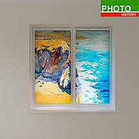 Рулонные шторы рисованные красками