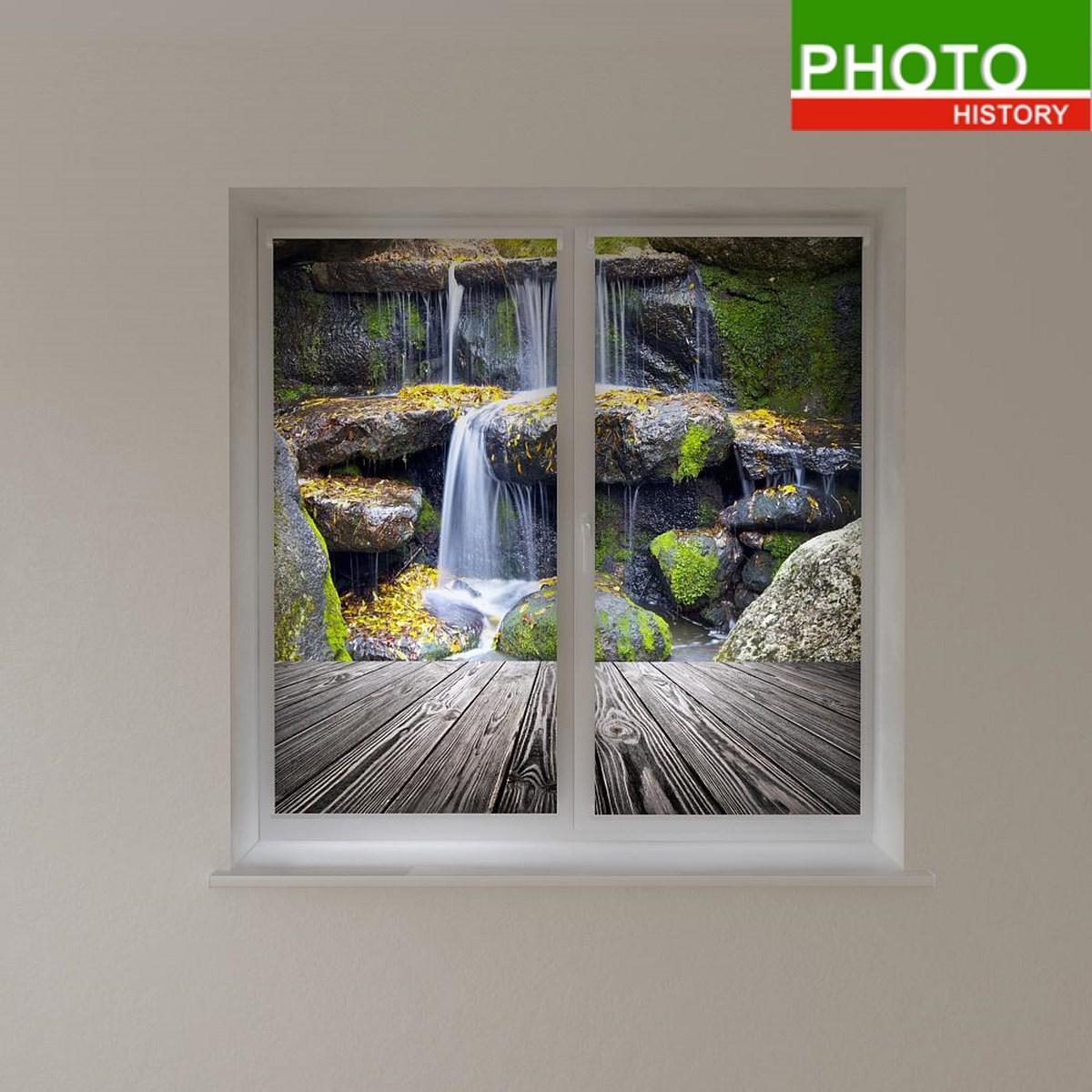 Рулонные фотошторы каскад водопадов