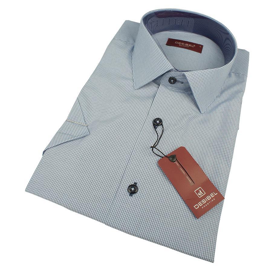 Мужская приталенная рубашка DSB 0310 H Slim С размер М