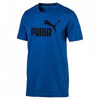 Футболка спортивная мужская Puma No.1 Logo Tee 838241 68 (синяя, хлопок, на каждый день, с логотипом пума)