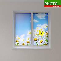 Рулонные шторы с фото ромашки