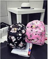 Женский повседневный рюкзак сумка MOJOYCCE кожа PU цветочный принт. В описании замеры!