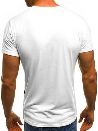 Мужская молодежная футболка J.Style White белая, фото 2