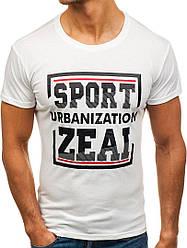 Мужская молодежная футболка J.Style White белая