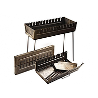 Мангал-чемодан на 12 шампуров, 2мм, фото 1