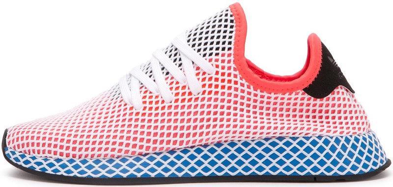 "Женские кроссовки adidas Deerupt Runner ""Solar Bird"" Red/Blue (Адидас) розовые"