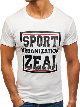Мужская молодежная футболка J.Style White, фото 2