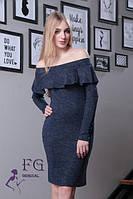 Облегающее платье с открытыми плечами 0114/04, фото 1