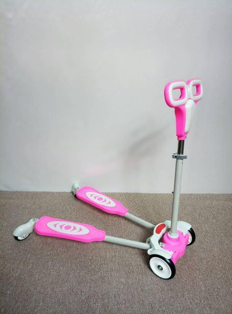 Самокат D001 Розовый