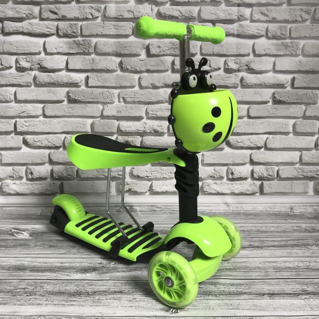 Самокат-беговел 890 \3 в1 Детский трехколесный Mini Micro Салатовый