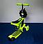 Самокат-беговел 890 \3 в1 Детский трехколесный Mini Micro Салатовый, фото 3