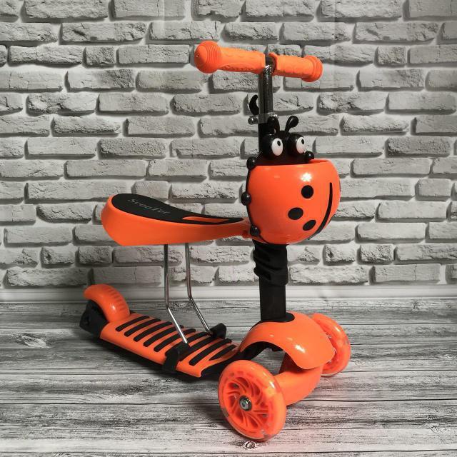 Самокат-беговел 890 \3 в1 Детский трехколесный Mini Micro Оранжевый