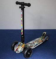Самокат SCOOTER 998-1. Складная ручка. Усиленная платформа