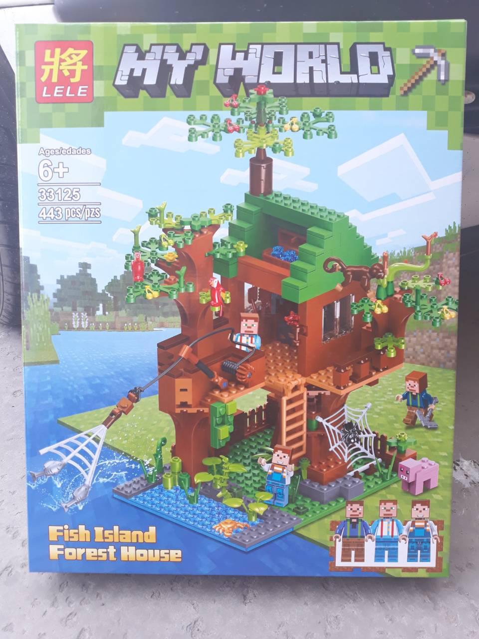"Конструктор Lele Minecraft 33125 443 детали ""Домик у реки"" (лего майнкрафт)"