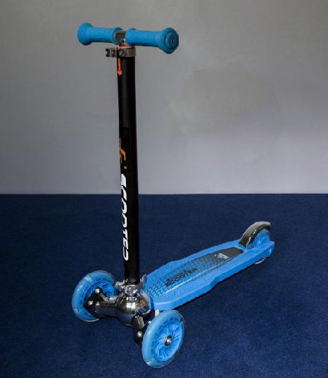 Самокат 16-1 Scooter 3. Голубой