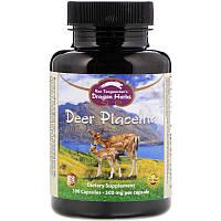 Dragon Herbs, Плацента оленя, 500мг каждая, 60капсул